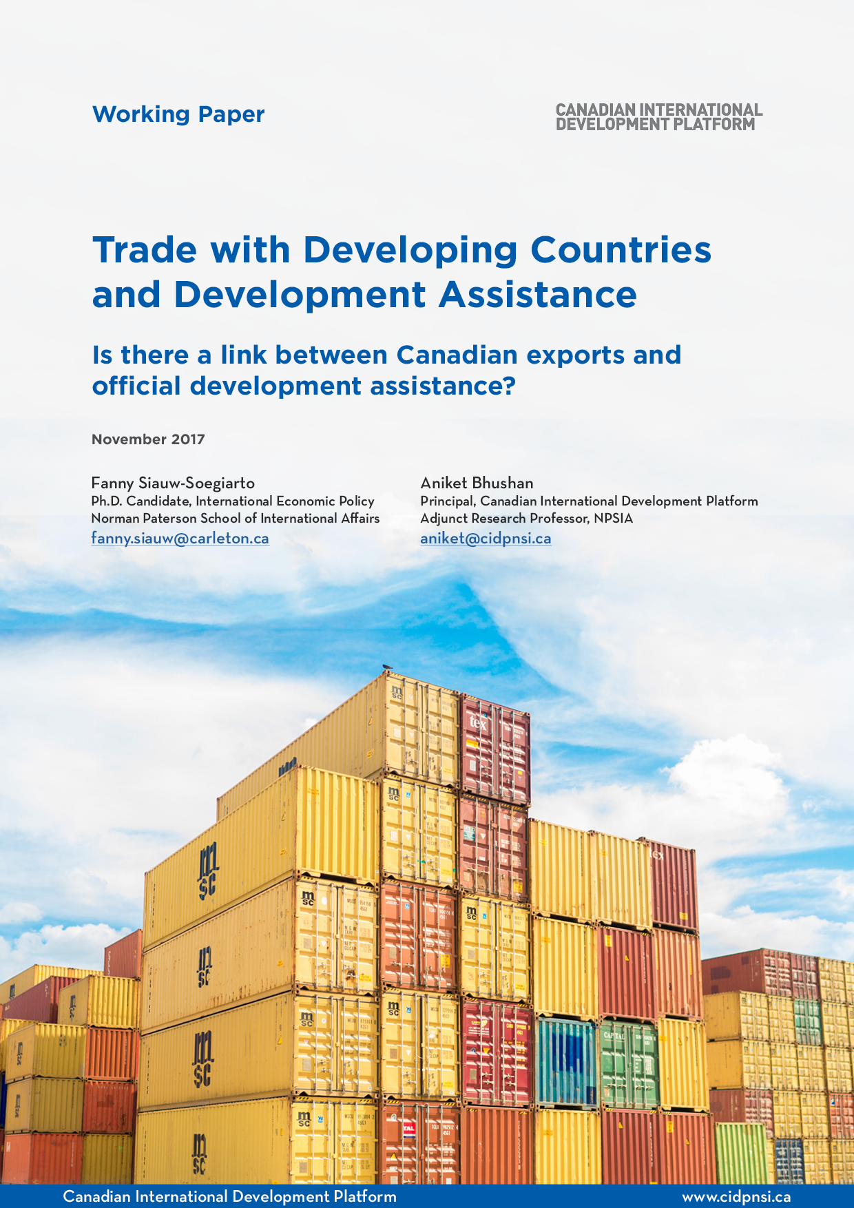 Trade with Developing Countries and Development Assistance
